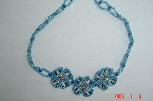 Beaded Jewelry Glass Seed Bead FLOWER CHOKER