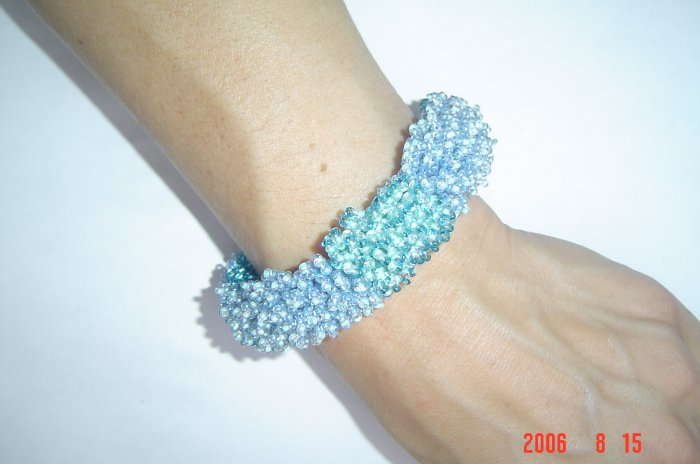 Fire Works Pillar Bead Bracelet