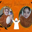 InspiredGFX 2 Picture Orange Halloween Collage 8x10 inches