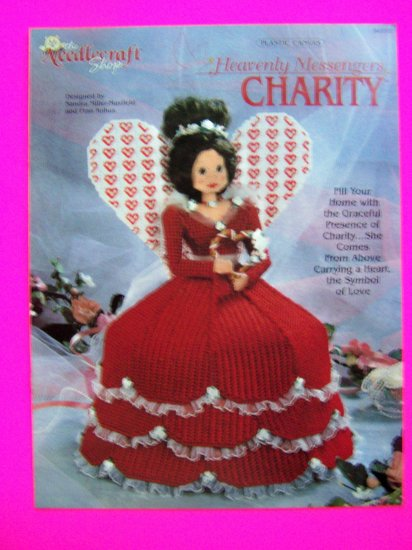 Plastic Canvas Craft Pattern Angel Doll Charity Heavenly Messengers Christmas Patterns