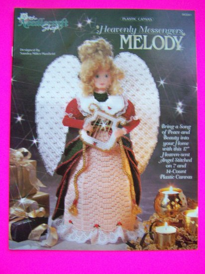 Plastic Canvas Pattern Heavenly Messengers Melody Christmas Angel Doll Harp