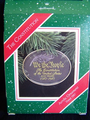 1980s New Vintage Hallmark We The People Constitution 1787 1987 Penny USA Shipping