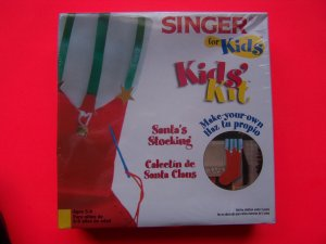 New Fabric Christmas Stocking Kit For Kids Easy for ages 5 and up