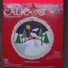 New Vintage 1982 Paragon Christmas Applique Kit Calic-O's Winter Cabin Scene 1 Penny USA Shipping