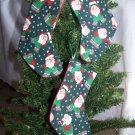 3 Fabric Santa Stockings Christmas Tree Ornament Set 1 Cent Shipping