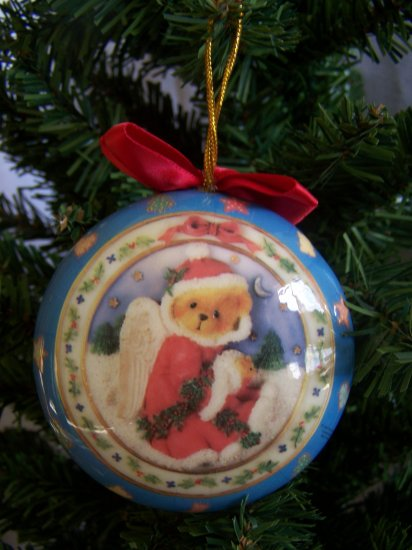 1996 Cherished Teddies Christmas Ornament Teddy Bear Angel 1 Penny Shipping