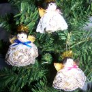 Vintage Mini Angel Bell Christmas Tree Ornaments Lacy Angels Bells 1 Penny Shipping USA