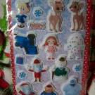 Rudolph The Red Nose Reindeer Puffy Stickers Misfit Toys Stocking Stuffers Penny Shipping USA