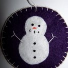 2 Purple Snowman Penny Rug Ornament Christmas Tree Decoration USA 1 Cent Shipping