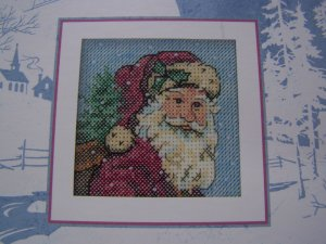 Dimensions Santa Clause Cross Stitch Pattern Pere Noel  USA 1 Cent S&H