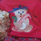 50 Cent USA S&H Beary Christmas Bear Candy Cane Applique Pattern