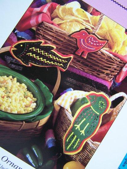 USA 50 Cent S&H Felt Fiesta Southwest Ornament Patterns Christmas Bird Parrot Fish