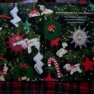 1990's Christmas Crochet Patterns Ornaments Dog Sweater Ear Flap Hats Mittens