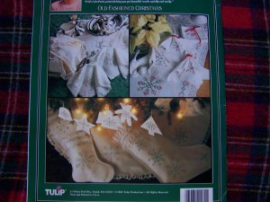 Tulip Colorpoint PaintStitching Old Fashioned Christmas Victorian Lace Snowflakes Transfers