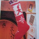 USA 1 Cent S&H Vintage Crochet Christmas Elf Stocking Pattern with Elves