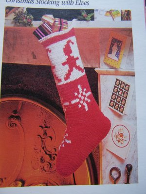 crochet christmas stocking pattern - ShopWiki