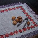 USA 1 Cent S&H Star Studded Christmas Cross Stich Pattern Place Mats Table Napkin