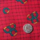 Vintage Christmas Wreath Red Cotton Fabric Kari Pearson Out of Print