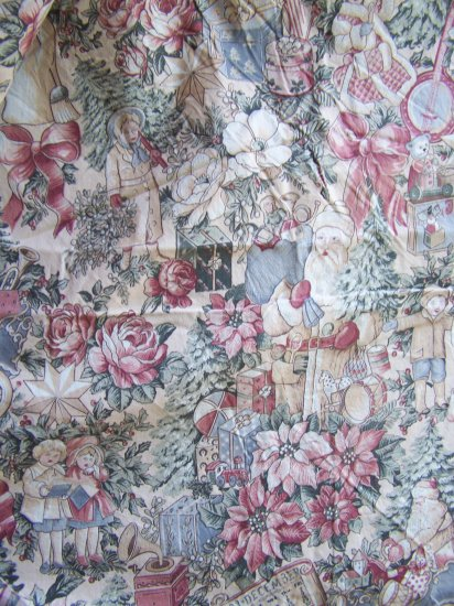 Kesslers Old World Antique Toys Christmas Fabric Cotton