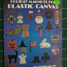 Vintage 80's Leisure Arts Leaflet 246 Plastic Canvas Holiday Magnets