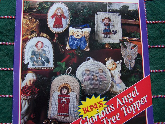 Christmas Cross Stitch Patterns Book 7 Angels Ornaments 1 Angel Tree Topper