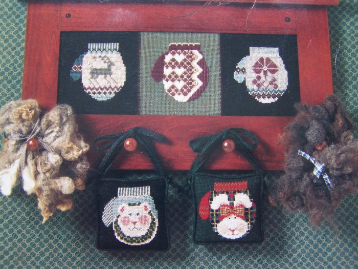 # 166 Cross Eyed Cricket Mittens Once More Christmas Cross Stitch Pattern Leaflet