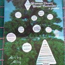 Vintage Drawn Thread Embroidery Charts for Christmas Tree Ornaments 6 Patterns