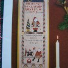 1992 Pat Thode Tis The Season Christmas Cross Stitch Embroidery Pattern Sampler
