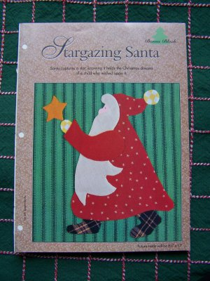 Christmas Quilt Blocks Stargazing Primitive Santa & Poinsettia Quilting Patterns 6 x 6