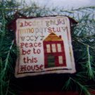 Christmas of Olde Ornament Embroidery Pattern Peace be to this House
