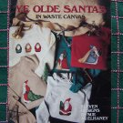 1 Cent S&H USA Vintage Christmas Leisure Arts Cross Stitch in Waste Canvas Patterns 613
