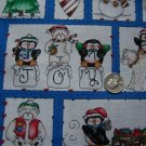 22 Square Pieces Christmas Cotton Fabric Quilting Material Dianna Marcum Marcus