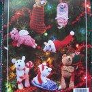 Crochet Patterns Christmas Ornaments Animals Stockings Penguin Pig Mouse Kitty Bear