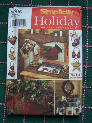 Christmas Sewing Patterns Stockings Tree Skirt Wreath Mantle Table 8366
