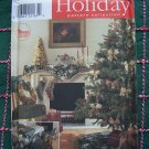 Uncut Christmas Sewing Pattern Tree skirt stocking tablecloth table topper chair cover 8396