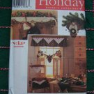Santa Angel Sewing Patterns Christmas Garland Stocking Chair Cover Valance 7914
