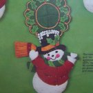 Bucilla Craft Kit Felt Jeweled Snowmen Doorknob Ornaments 4 pc Set 3401 Sequins Beads