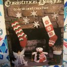 Free USA S&H Vintage 70's Knit & Crochet Christmas Craft Patterns Ornaments Stockings & More 129