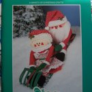 Vintage 80's Christmas Santa Crafts Book Counted Cross Stitch Needlepoint Sewing