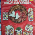 Free S&H USA Christmas Plastic Canvas Patterns Holly & Berries Leaflet 111