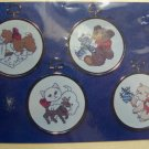 Vintage Christmas Cross Stitch Craft Kit Cat 4  Ornaments Studio M