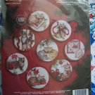 Janlynn Cross Stitch Christmas Tree 8 Cat Ornaments Craft Kit Embroidery Cats