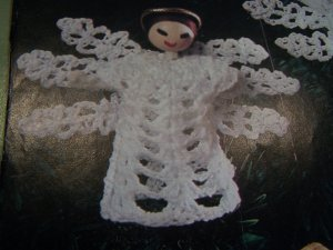1 Penny S&H USA Vintage Crocheted Angels Christmas Tree Ornaments Pattern