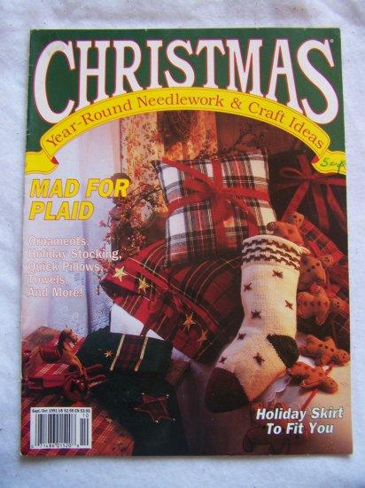 Christmas Year Round Needlework & Craft Ideas Magazine 1991 Mad For Plaid