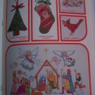 Vintage Christmas Counted Cross Stitch Pattern Book