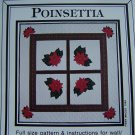 0 USA S&H Vintage Poinsettia Christmas Quilt Wall Hanging Table Cover QUilting Patterns
