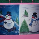 S&H Free USA 2 Vintage Dry Brushing Shirt Painting Patterns Christmas Snowman