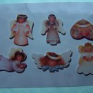 6 Vintage Wood Angel Christmas Tree Ornament Painting Patterns