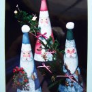 USA Free S&H Cardboard Cone Kringles Christmas Santa Claus Painting Pattern