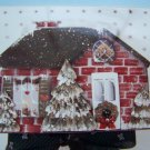 S&H Free USA Vintage Rosemary West Christmas House Tole Painting Pattern Cottage